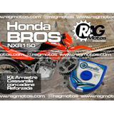 Honda Bros Nxr 150 Kit Arrastre Cassarella Repuesto Moto