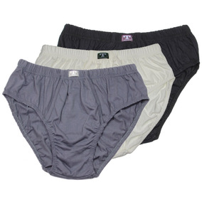 Cuecas Plus Size Slip C/ Abertura - Kit C/ 3 - Tam. Exg2