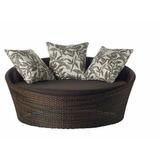 Sofa Chaise Concha De 1.30m De Fibra Sintetica E Aluminio
