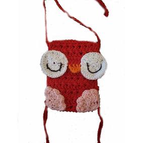 Carteritas Lechuza-para Celular O Para Nenas- En Crochet-