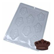 Forma Para Chocolate Coroa Da Rainha Ref. 9358 - Pct 5 Unid