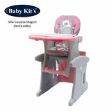 Baby Kits - Silla De Comer Bebe Carpeta 2 En 1 - Rosado