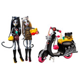 Monster High Werecats Sisters Y Scooter