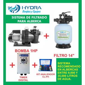 Kit Paquete Equipos Alberca Filtro 14 Bomba 1hp