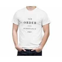 Camiseta De Rock New Order Substance