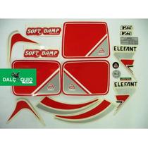 Faixa Adesiva Moto Agrale 85 Elefant Branca/vermelha
