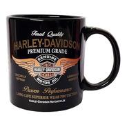 Caneca Rock Harley Davidson - Preta E Dourado Caixa Presente