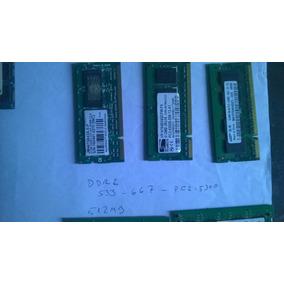 Ram Laptop Ddr2 512mb Y Pc-5300 Varias Marcas