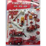 Kit Fire Hero 15peças Caminhões Brinquedos Festa Decoração