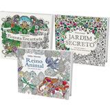 (promoção) Kit 3 Livros Colorir Anti-stress Terapia Arte
