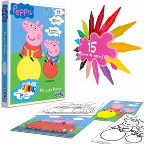 Quebra Cabeça Para Pintar Peppa Pig Raciocínio E Habilidade