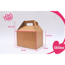 Caja Lonchera Boxlunch Carton Micro Dulces Postres Grande