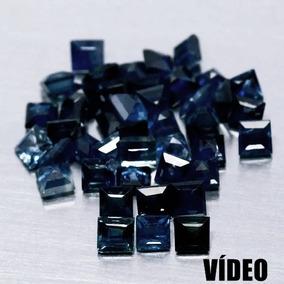 Safiras Azuis De 6.50 Cts *52 Unidades(2.2x2.3mm A 2.5x2.5mm
