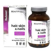 Hair, Skin & Nails + Hydrolyzed Collagen, Bluebonnet 90 Caps