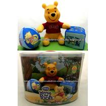 Kit Baby Boneco Pelúcia Urso Pooh Disney Original Multibrink