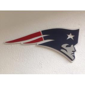 Patriotas De Nueva Inglaterra, Logo En Madera Mdf