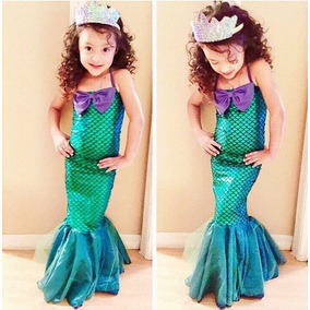 Vestido Fantasia Helloween Carnaval Princesa Sereia Ariel