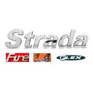 Emblemas Strada Fire 1.4 Flex - 02 À 12 - Modelo Original