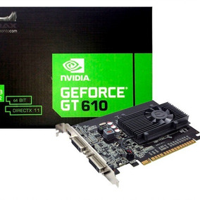 Placa De Video Mymax Geforce Gt610 2gb Ddr3 64bits Dvi Hdmi