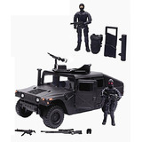 Hummer Militar Humvee + Muñecos Tipo Gijoe + Armas + Accesor