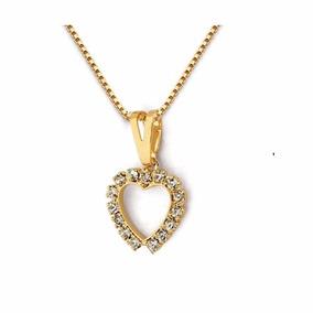 Collar Corazón Oro Laminado - Joyas Mujer Regalo Gargantilla