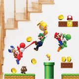 Vinilos Adhesivos Infantiles Super Mario Bros Decorativos