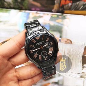 Relógio Emporio Armani Ar1410 Preto Cerâmica 100%original