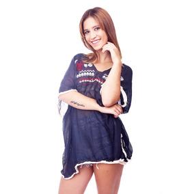 Customs Ba Remeras Mujer Importada Camisa Gasa Remera Poncho