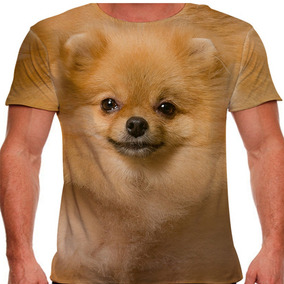 Camiseta Cachorro Spitz Alemão Dourado Masculina