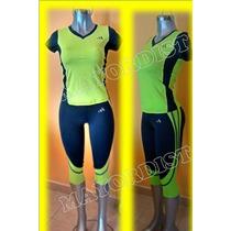 Conjunto Deportivo Lycra Nike Puma Under Armour Adidas Mujer