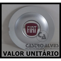 Calota Tampa Miolo Centro Roda Fiat Bravo Absolute Prata