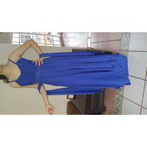 Vestidos Largos Azul Rey Holliwood Boda Gala Graduación