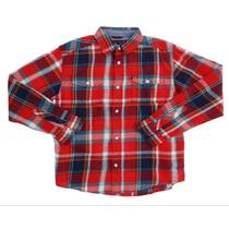 Camisa Tommy Hilfiger Cuadros Roja Casual