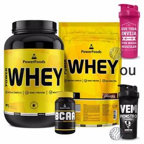 Whey Proten Nutri Choc+ Whey Proten Refil + Bcaa Powerfoods