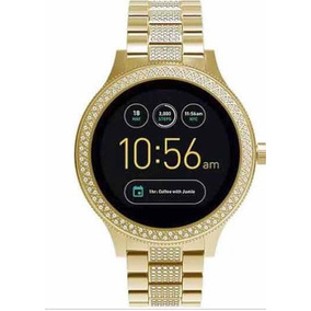 dab4fdc0314 Relógio Fossil Original Feminino Strass Pulseira De Couro. Bahia ·  Smartwatch Fóssil Gold - Q Venture Geração 3 Com Strass