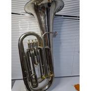 Tuba Weril Brasil Sib 4/4 Níquel Completa 3 Pistos