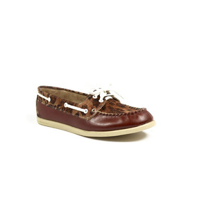 Zapato Tipo Sperry / Top Sider Animal Print Cafe Tabaco 5731