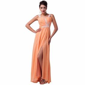 Vestido De Debutante Laranja 34 36 38 40 42 44 46 48 Vg00143