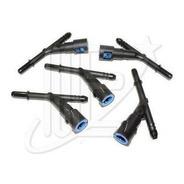 Conector Rapido 3 Bocas P/inyeccion 45º 5/16 X 5/16