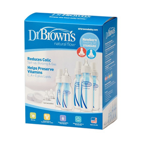 Dr Browns Set 5 Teteros Anticolicos 4oz/8oz Azules/tetinas