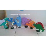 Enfeites Decoração Dinossauros Festa Mesa Bolo 6unidades