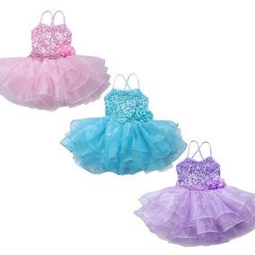 a908991ef8 Vestido Bailarina Tutu Rosa Lilas Azul Festa Anuversario