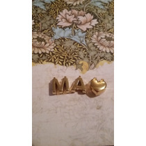 Letras Molde Iniciales 1cm Joyeria Collares Oro Laminado