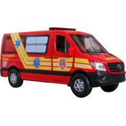 Miniatura Viatura Bombeiros Resgate Ambulância Pm Sp 193
