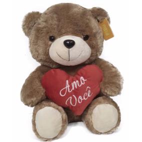 Urso De Pelúcia Coração Ursinho Amo Você 50cm Namorados