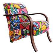 Poltrona Cadeira Decorativa Estampa Sala Quarto Recepção