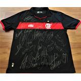 Camisa Flamengo 2012 De Jogo Autografada Elenco