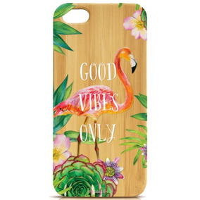 Funda Iphone Bambú ( Good Vibes )