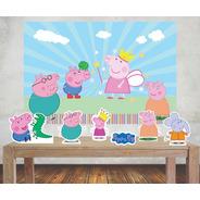 Painel 1,00x0,70m Peppa Pig  E Displays Mesa Festa Infantil