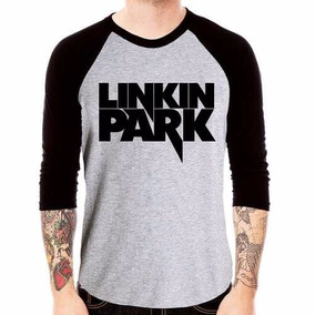 Camisa Linkin Park Rock Chester Bennington Camiseta 3/4 Mang